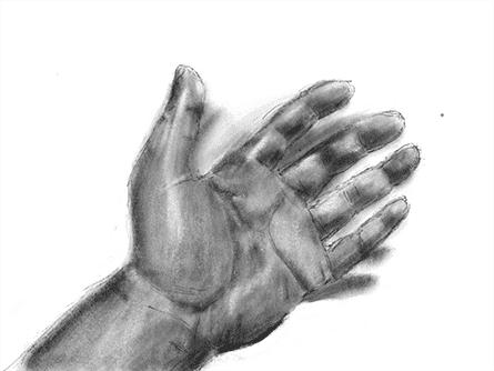 手のスケッチ